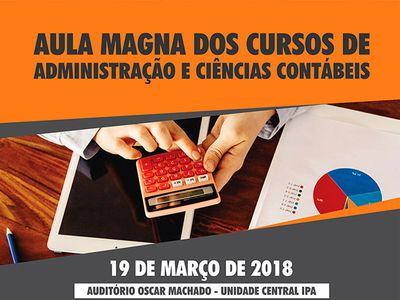 Cursos de Gestão promovem aula magna no dia 19 de março