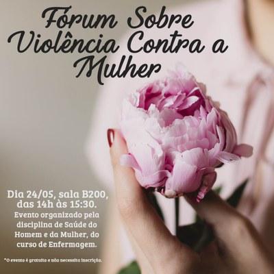 Curso de Enfermagem promove debate sobre Violência Contra a Mulher