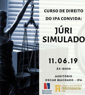 Alunos de Direito do IPA participam de Júri Simulado