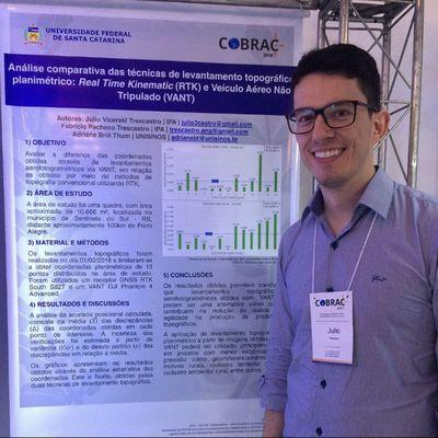 Egresso de Engenharia Civil participa do COBRAC 2018