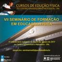 VII Seminário de Formação em Educação Física está com inscrições abertas para submissão de trabalhos