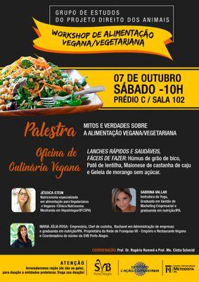 Projeto Direito dos Animais promove 1º workshop de alimentação vegana e vegetariana do IPA