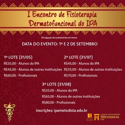 I Encontro de Fisioterapia Dermatofuncional do IPA está com as inscrições abertas