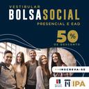 IPA  inscreve para bolsas sociais de 50% em cursos presenciais e a distância