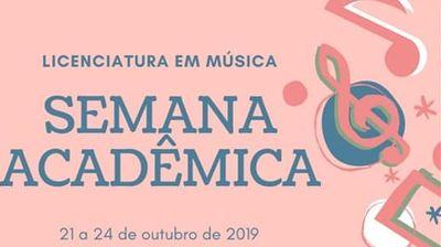Curso de Licenciatura em Música realiza Semana Acadêmica com muitas atrações