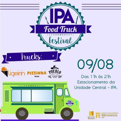 IPA realiza Food Truck Festival no dia 9 de agosto