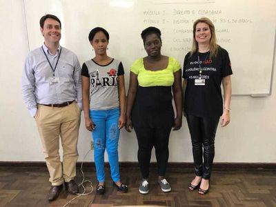 Curso de Formação Cidadã para imigrantes haitianas