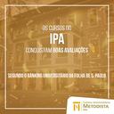 Cursos do IPA mantêm boas avaliações no Ranking Universitário da Folha (RUF)