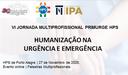 IPA e HPS abrem inscrição para a VI Jornada Multidisciplinar PRIMURGE
