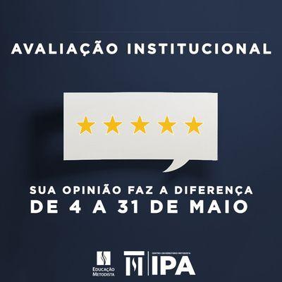 Atenção docentes e acadêmicos! Participe da Avaliação Institucional do IPA