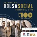 Inscrições abertas: processo seletivo da Bolsa Social IPA de até 100% em cursos presenciais e a distância - calouros e veteranos