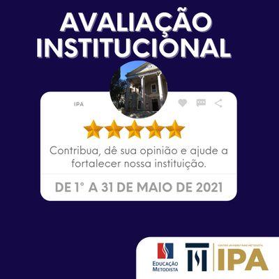 IPA realiza Avaliação Institucional até 31 de maio. Acesse o Portal do Aluno e participe!