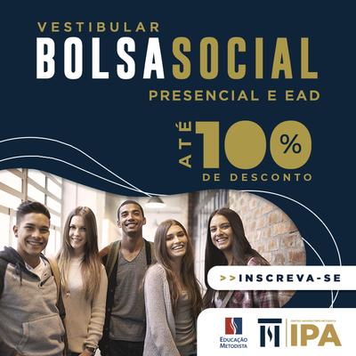 Inscrições abertas: processo seletivo da Bolsa Social IPA de até 100% em cursos presenciais e a distância