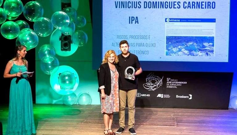 Estudante do IPA é destaque no Prêmio José Lutzenberger