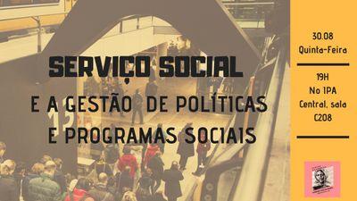 Curso de Serviço Social promove atividade sobre Gestão de Políticas Sociais